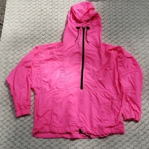Vintage Neon Pink Anorak Hooded Windbreaker Jacket